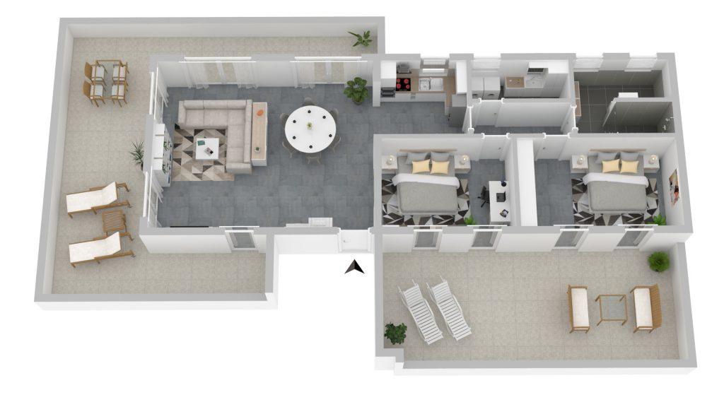 PlusFewo-Galerie-Penthouse-Trier-Ferienwohnung-Grundriss